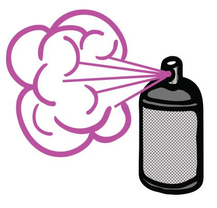 Cartoon Hairspray Can.