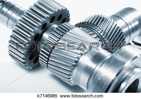 Stock Image of gear wheels for aerospace industry k7146985.