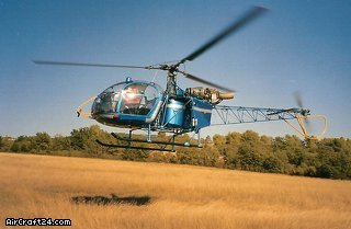 Aerospatiale ALOUETTE II SA 318 C aircraft for sale.