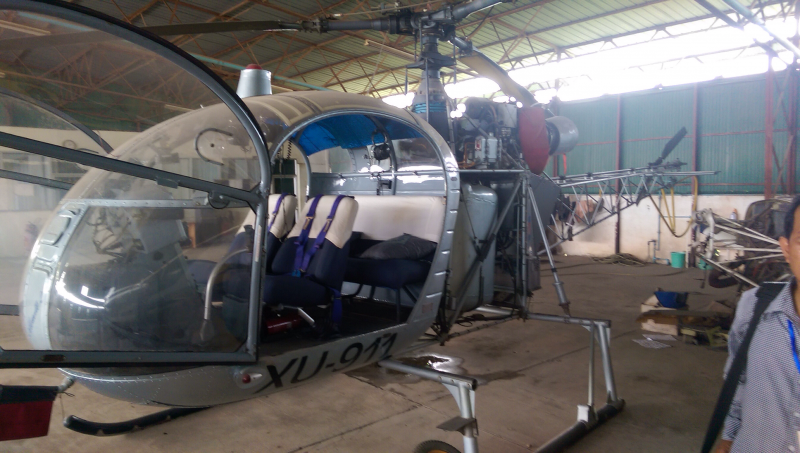 Helicopter for sale or swap Aérospatiale Alouette II Turbine.