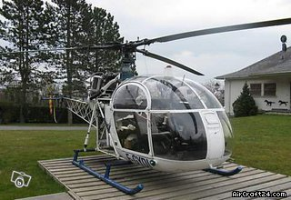 Aerospatiale ALOUETTE II aircraft for sale.