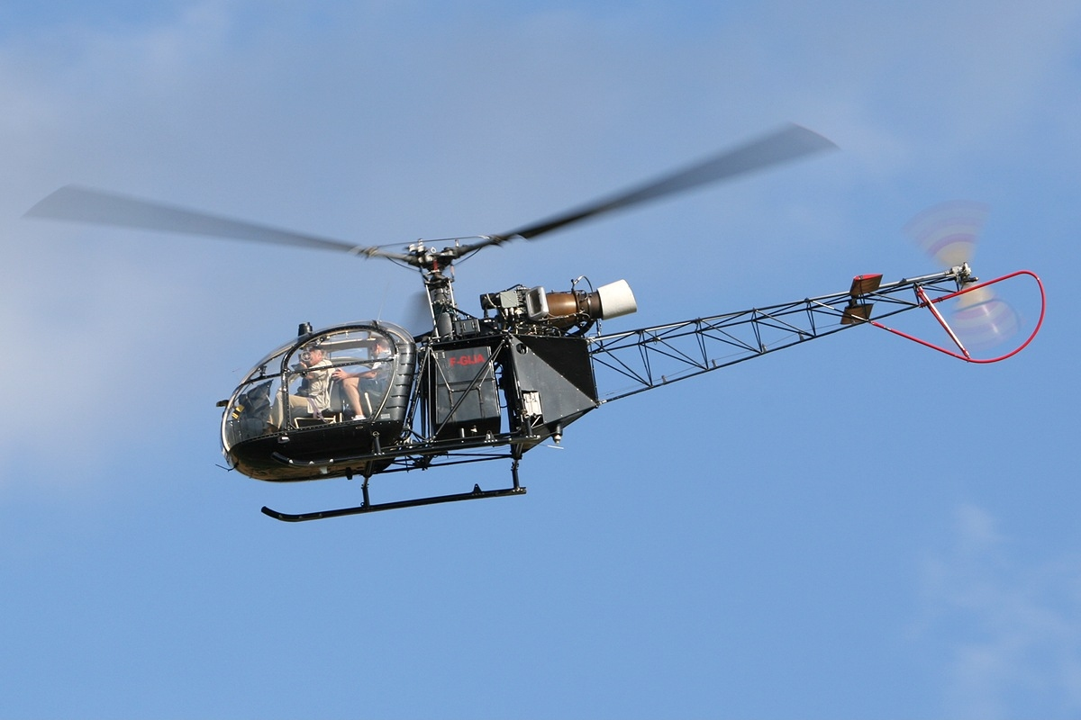 File:Aerospatiale Alouette II Private F.