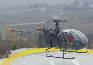 Aerospatiale Alouette II helicopter for sale.
