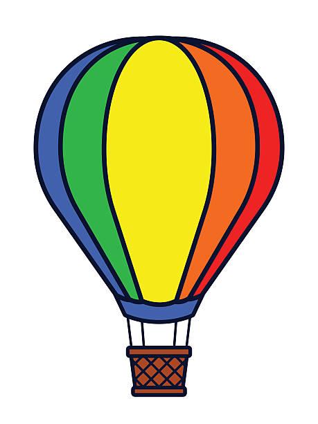 Hot Air Balloon Basket Clipart.
