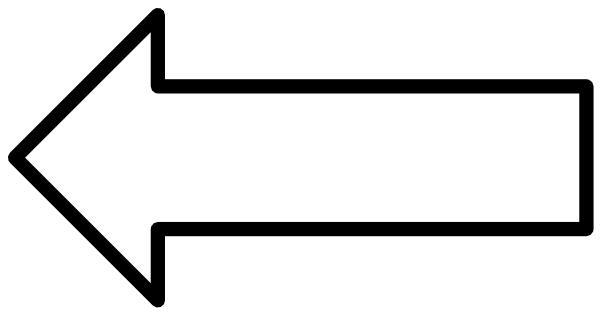 White Clipart Arrow.