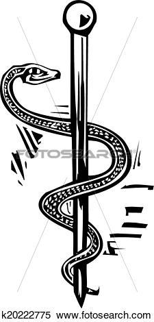 Clipart of Rod of Aesculapius k20222775.