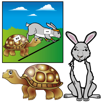 Aesop\'s Fables : The Tortoise and the Hare Clip Art Set.