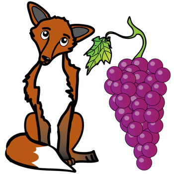 Aesop\'s Fables: The Fox and the Grapes Free Clip Art Set.