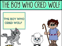 The Boy Who Cried Wolf (Aesop's Fable) Clip Art.
