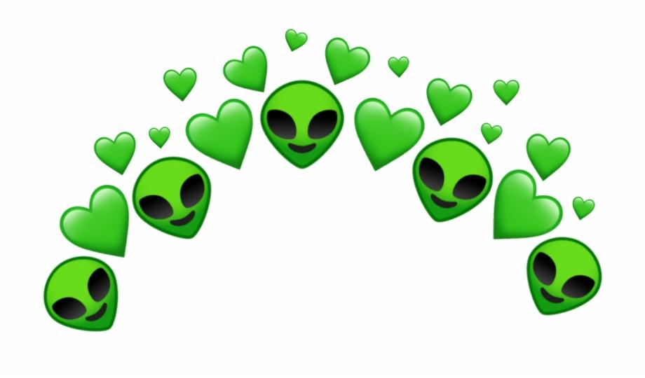 Alien Green Heart Tumblr Aesthetic Aliens Png.