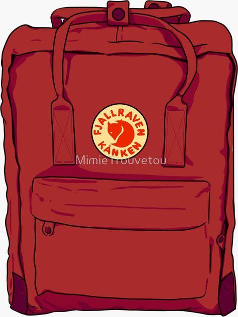 Red backpack fjallraven kanken\' Sticker by MimieTrouvetou.