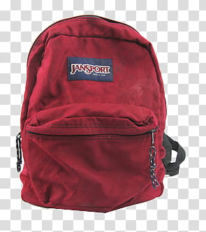 AESTHETIC GRUNGE, red Jansport back transparent background.