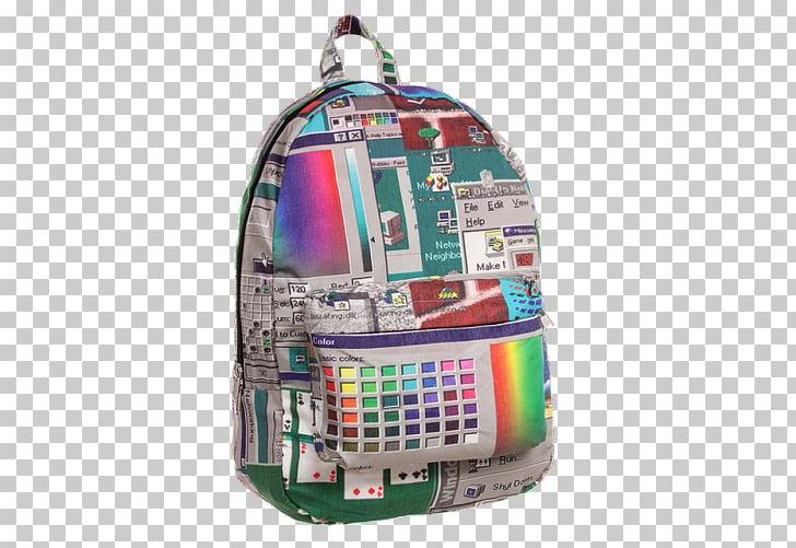 Backpack Vaporwave Bag Aesthetics , backpack PNG clipart.