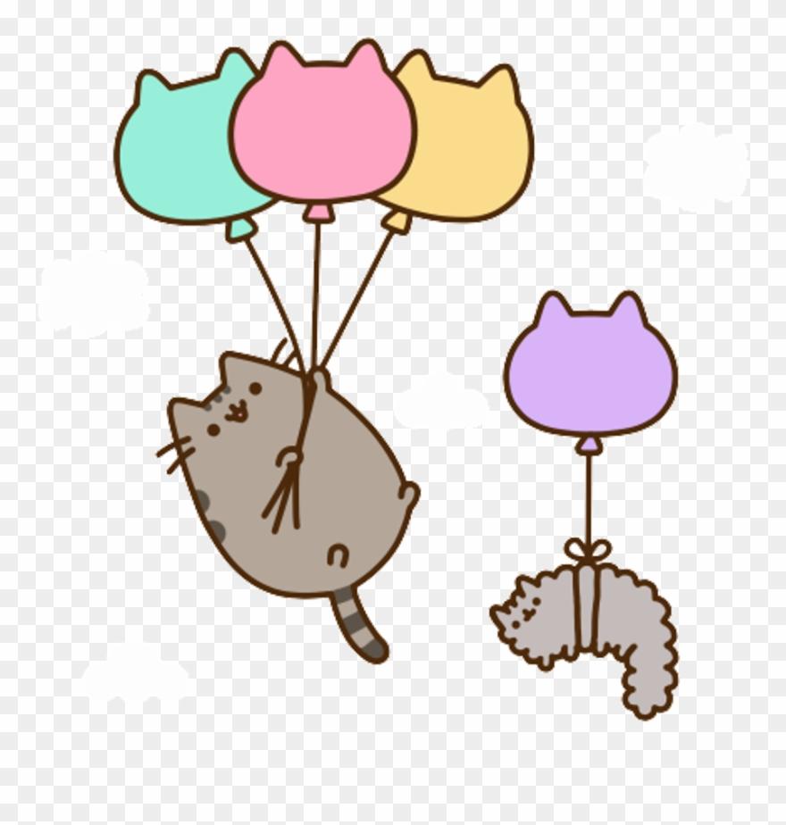Pusheen Cat Aesthetic Kawaii Anime Art Sticker Manga.
