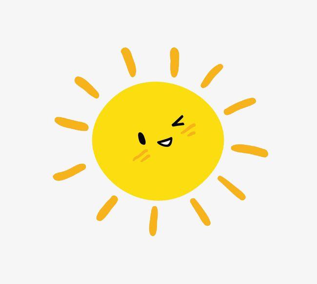 Vector Cartoon Sun, Cartoon Clipart, Sun Clipart, Sunshine.