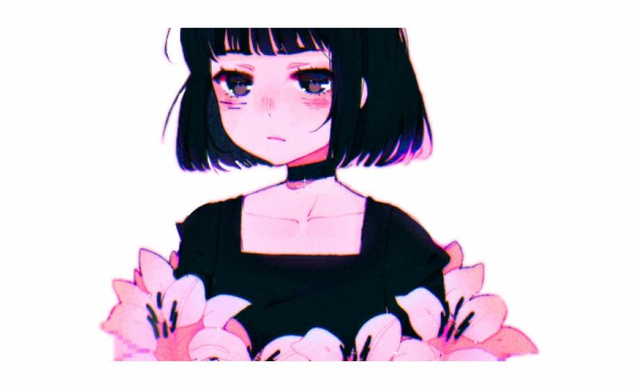 Aesthetic Clipart Anime Crying Anime Girl Aesthetic.