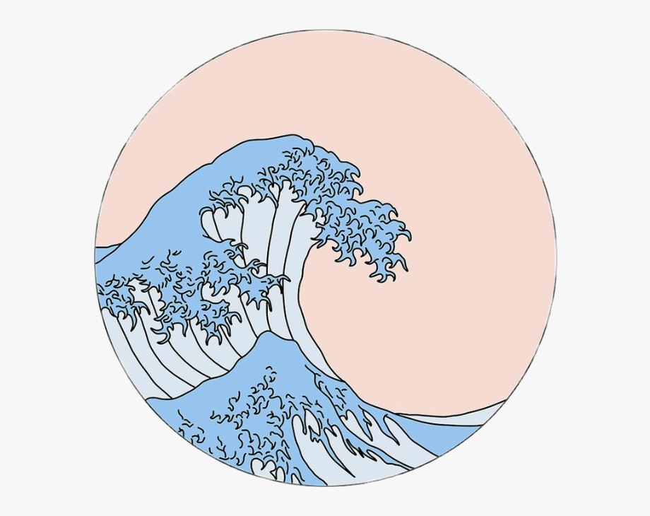 Aesthetic Wave Drawing, Cliparts & Cartoons.