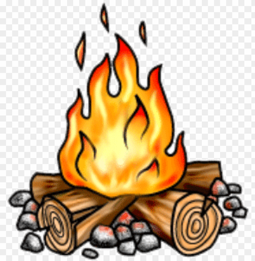 free stock bonfire clipart small campfire.