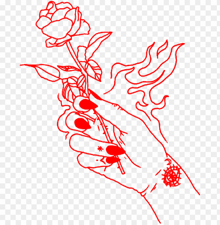 aesthetic clipart rose.