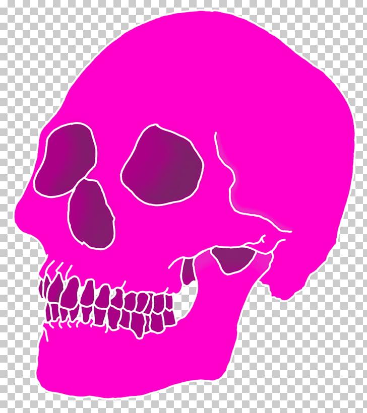 Aesthetics II Skull , Aesthetic, pink skull PNG clipart.