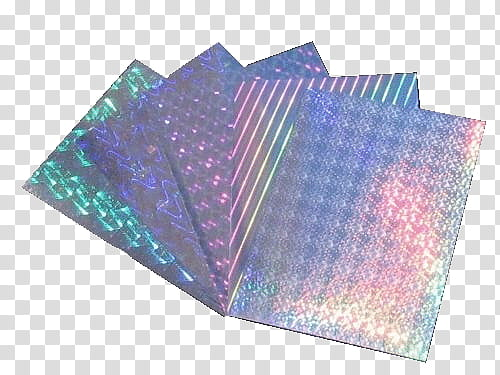 Aesthetic, iridescent cards transparent background PNG.