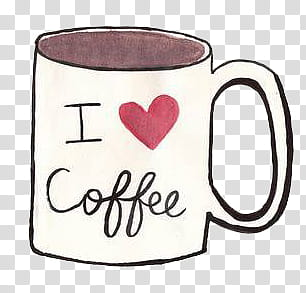white and black i love coffee.