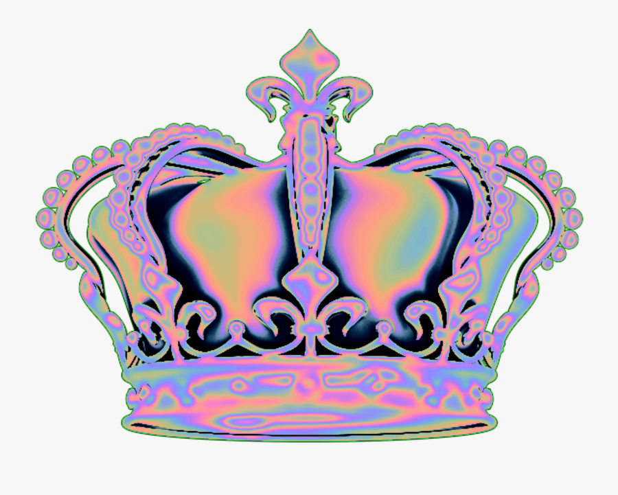 Holo Holographic Vaporwave Aesthetic Tumblr Crown Png.