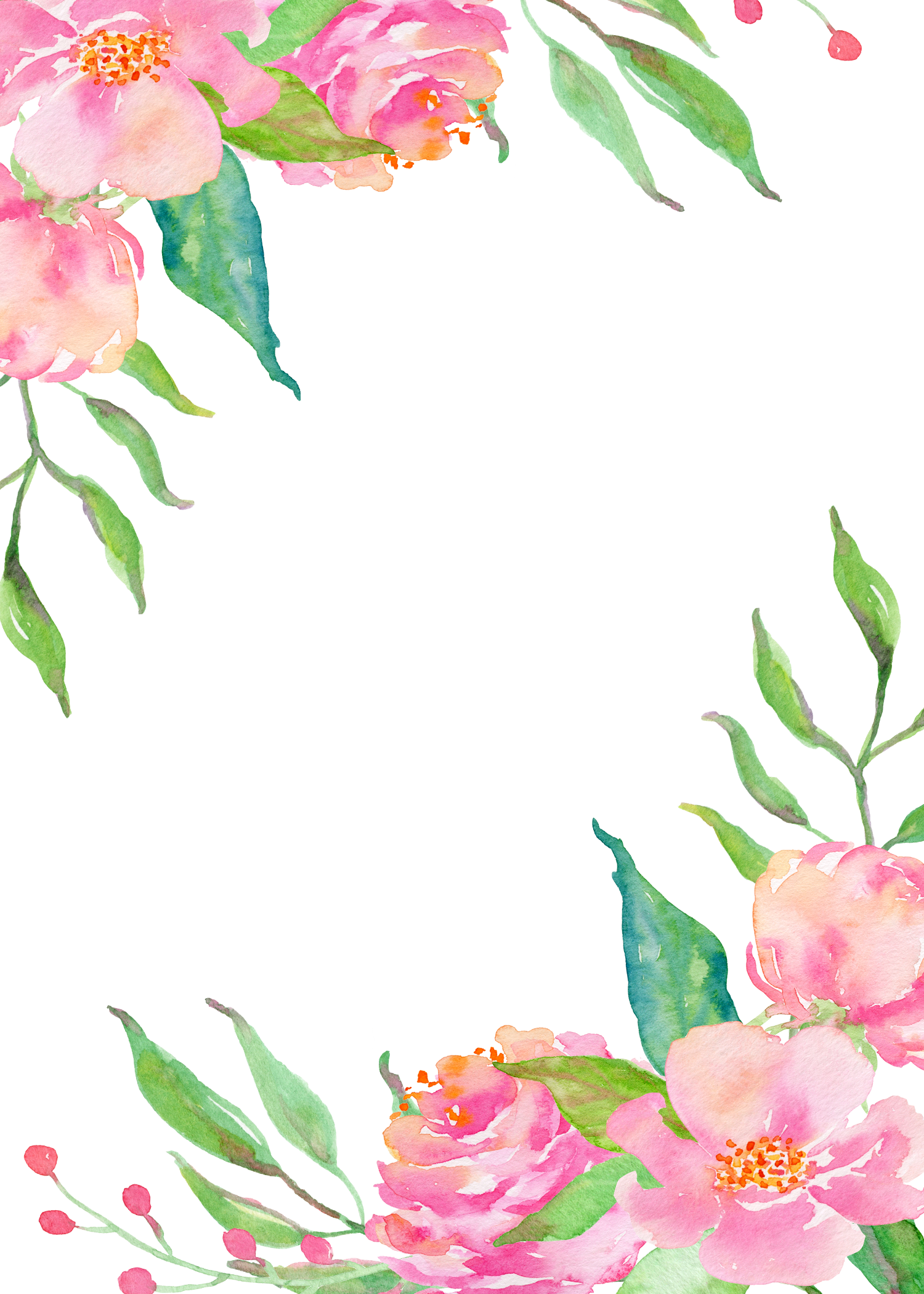 Pink flower borders png download.