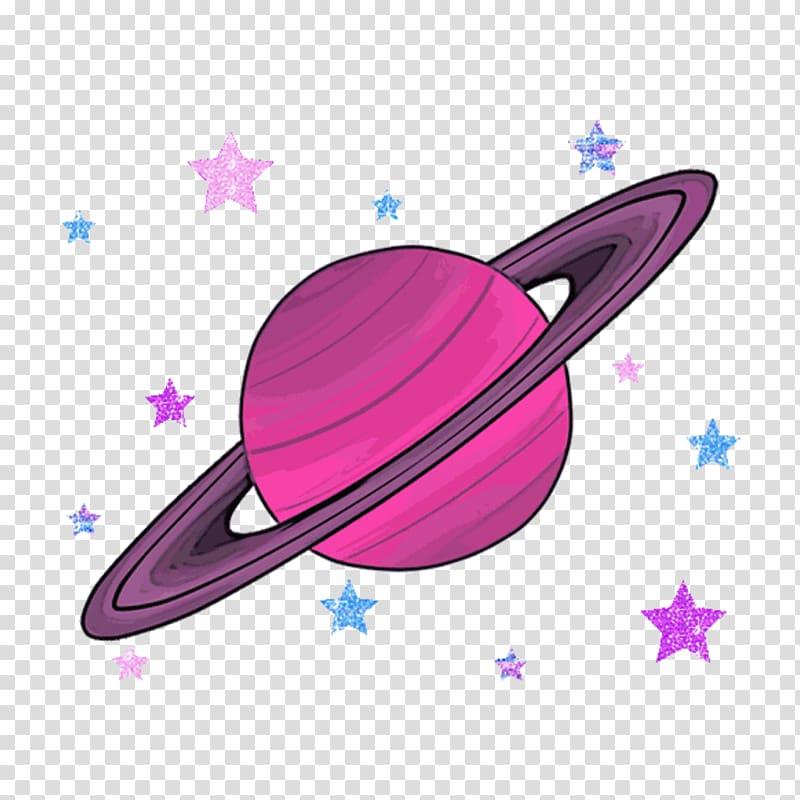 Saturn planet illustration, Aesthetics Pastel User Drawing.
