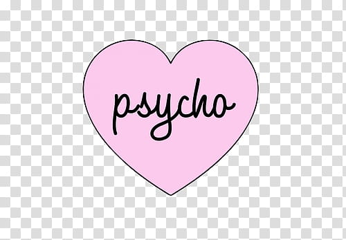 AESTHETIC S , psycho inside heart transparent background PNG.
