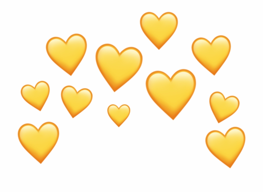 Yellow Heart Heartcrown Crown Aesthetic Tumblr Png Heart.