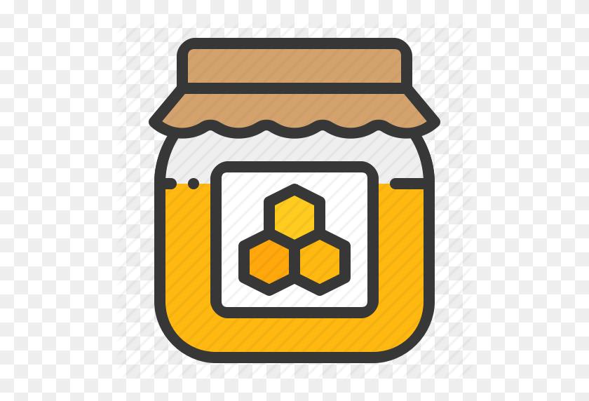 512x512 Bee, Farm, Honey, Honey Jar, Jar, Sweet Icon.