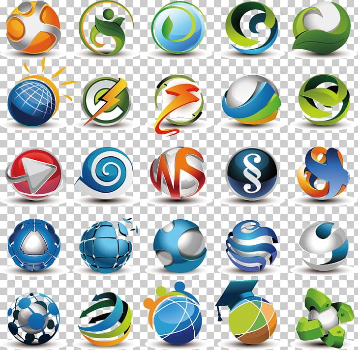 Logo Adobe Illustrator Template, 3D metallic aesthetic LOGO.