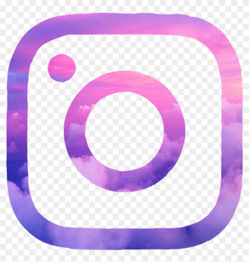 instagram #aesthetic #logo #pink #purple.