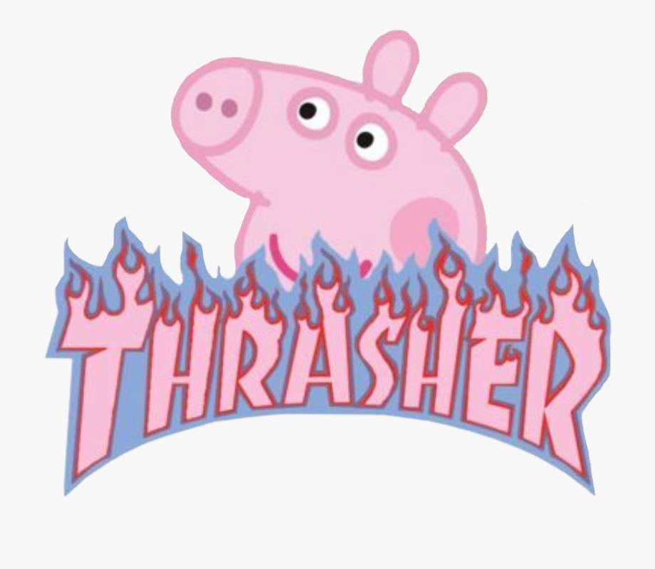 thrasher #peppapig #aesthetic #peppa #pig #vsco #vscogirl.