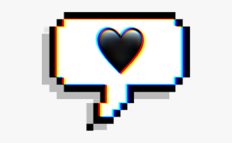 chat #emoji #text #heart #black #glitch #effect #aesthetic.