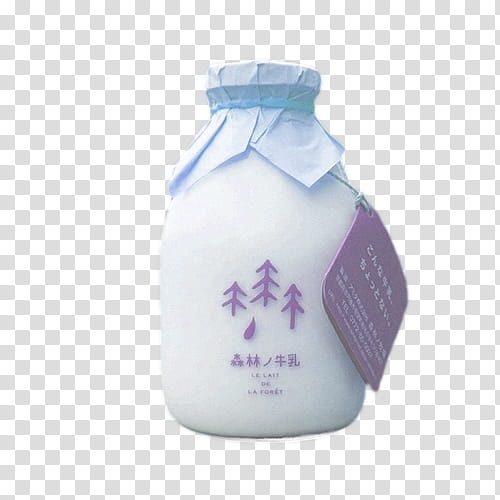 Aesthetic, white milk bottle illustration transparent.