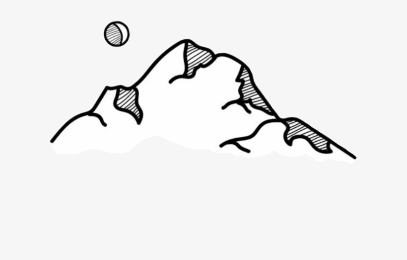 Collection Of Free Drawing Mountains Aesthetic Download.
