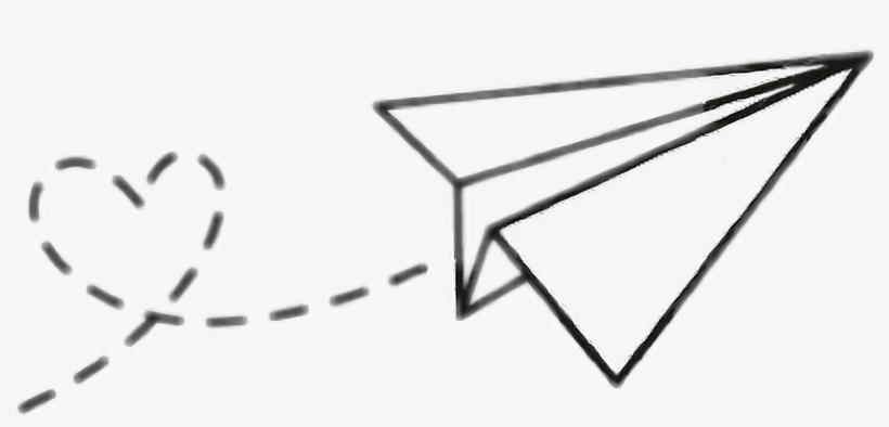 Plane Paper Adesive Adesivo Tumblr Paper Airplane Tumblr.