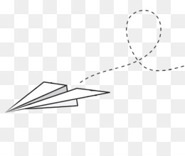 Paper Airplane PNG.
