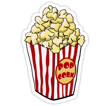 Aesthetic popcorn clipart Transparent pictures on F.