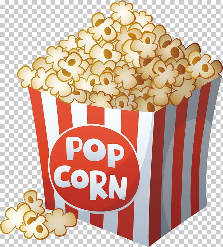 Popcorn Cartoon Film Drawing, popcorn, pop corn illustration.