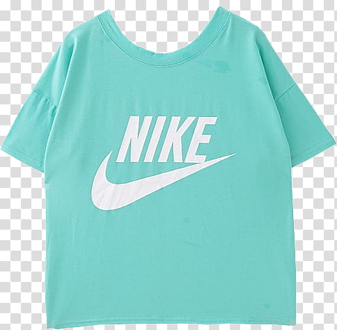 AESTHETIC, teal and white Nike t.