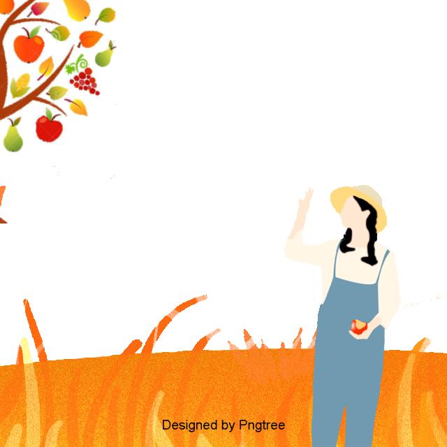 Cartoon Simple Autumn Pattern Design, Autumn, Cartoon.