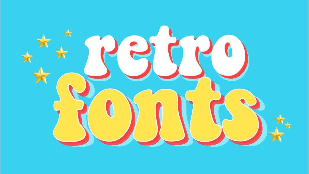 Retro Font Pack.
