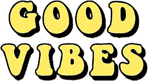 Good Vibes Tumblr, Aesthetic, Yellow Sticker Decal Window.