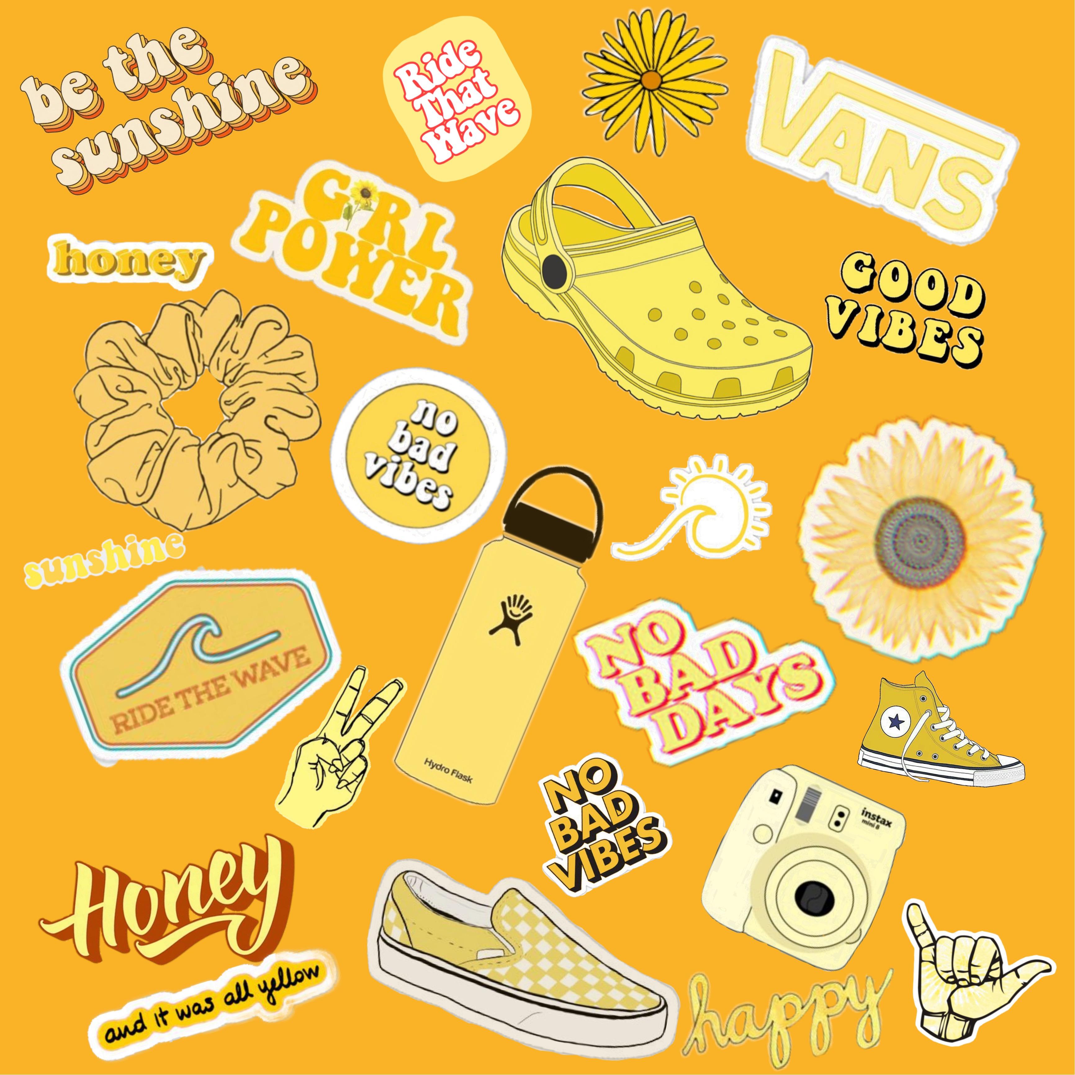 yellow aesthetic vsco happy freetoedit.