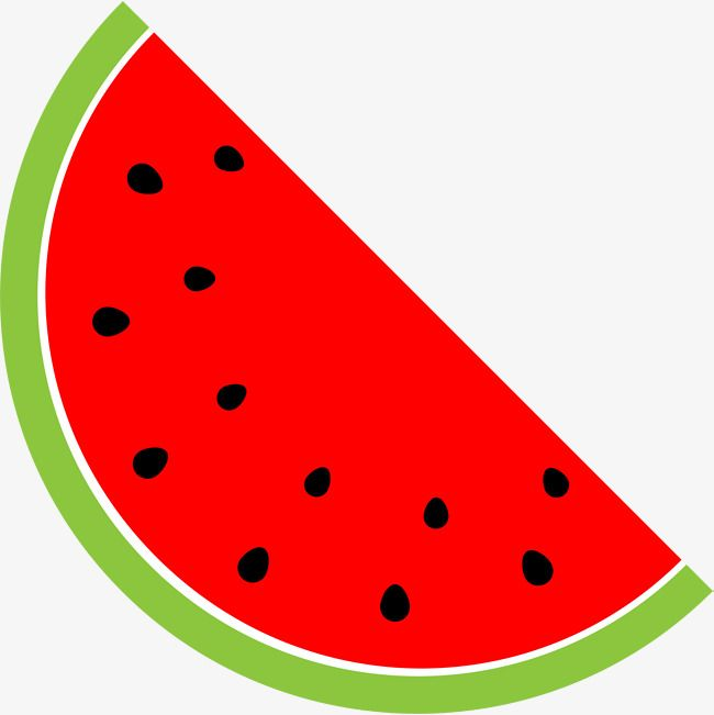 Cartoon Red Watermelon, Cartoon Clipart, Watermelon Clipart.