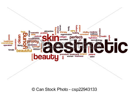 Drawings of Aesthetic word cloud concept csp22943133.