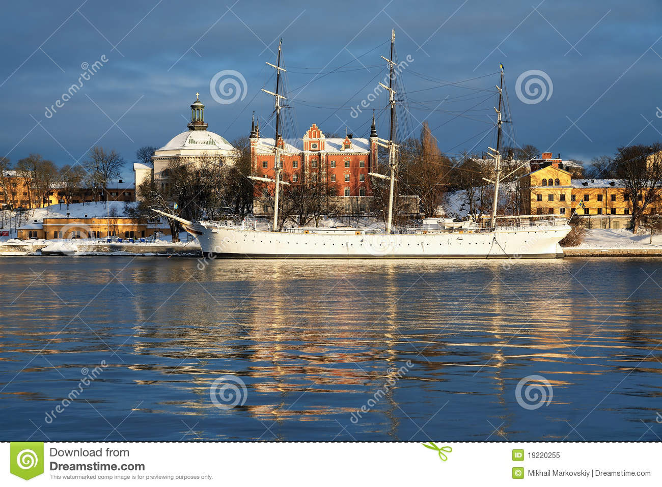 The Af Chapman Ship In Stockholm Royalty Free Stock Photo.